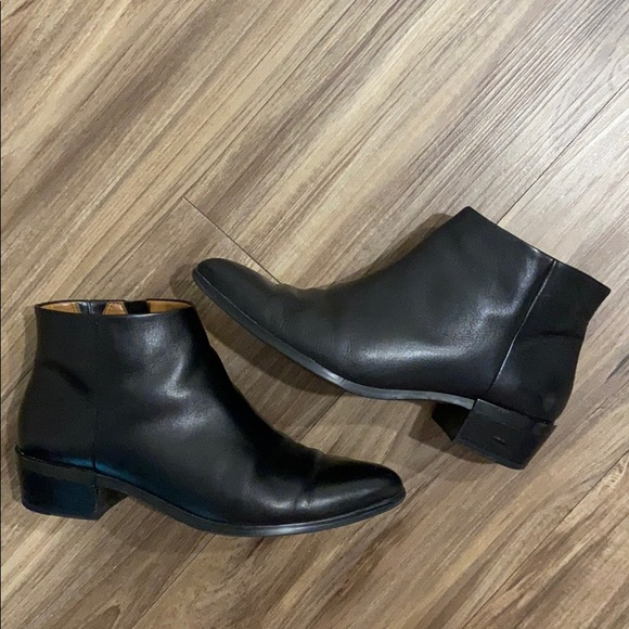 Coach Black Pointed Toe Booties